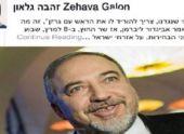 Захава Гальон поддержала инициативу повесить Либермана